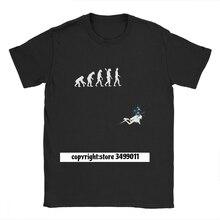 Evolution de lhomme drôle plongée sous-marine T-Shirt hommes coton t-shirts plongée plongeur mer plongée en apnée sport T-Shirt Fitness