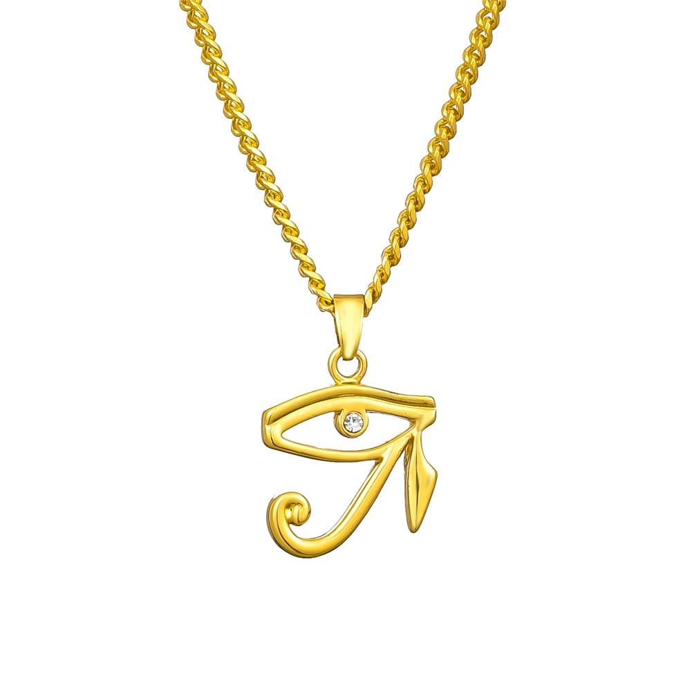 Colgante egipcio El Ojo de Horus para mujer amuleto águila Faraón patrón San Horus ojo collares Unisex joyería