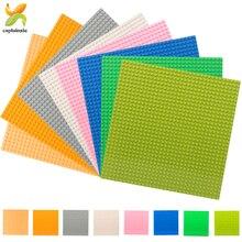 8 couleur 32*32 points classique bricolage plaque de Base pour petites briques conseil blocs de construction ville plaques de Base jouets éducatifs pour les enfants