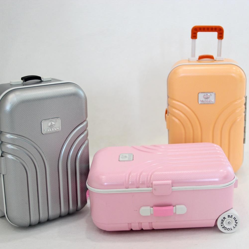 "Maleta para muñeca Bjd Color naranja Rosa plata funda de viaje para 1/3 muñeca bjd Sd para 18 ""American Doll Accessaries regalo para niña"