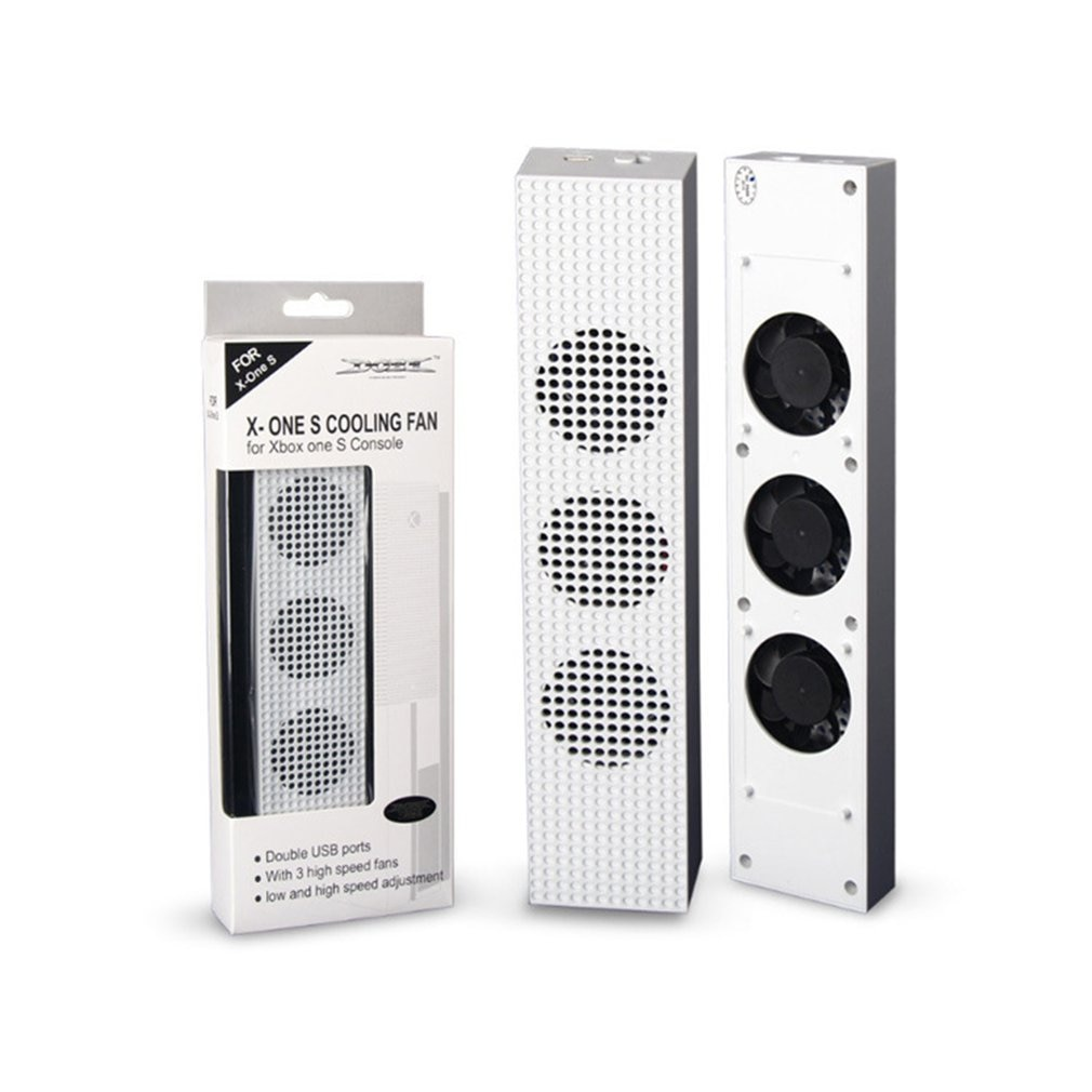 Para Xbox One S ventilador de refrigeración con 2 puertos USB Hub...