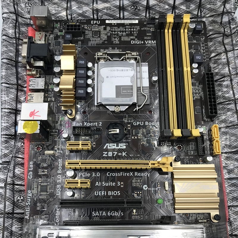 LGA1150 DDR3 Z87 For ASUS Z87-K 100% Original Motherboard32G Z87K Desktop Mainboard Mother board USB3.0 SATA III VGA OC Used