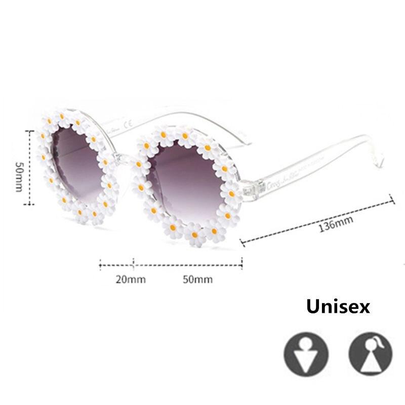 Classic Daisy Round Sunglasses Classy Women/Men Mirror Sun Glasses UV400