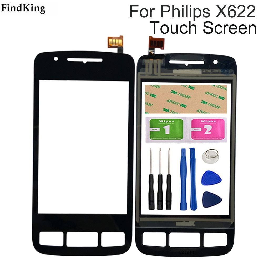 4'' Mobile Phone Touch Screen TouchScreen For Philips Xenium X622 Touch Glass Front Glass Digitizer