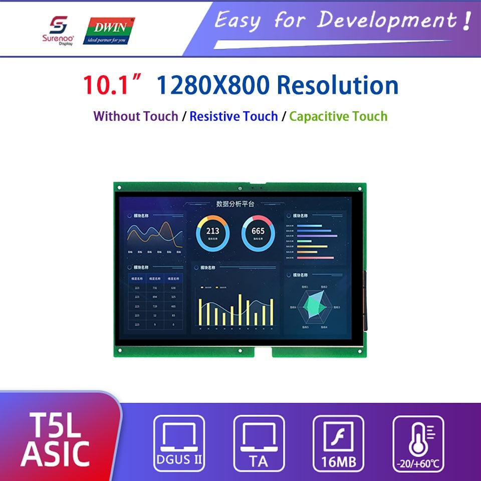 "Pantalla inteligente Dwin T5L HMI, DMG12800L101_01W 10,1 ""1280X800 IPS LCD módulo pantalla táctil capacitiva resistiva"