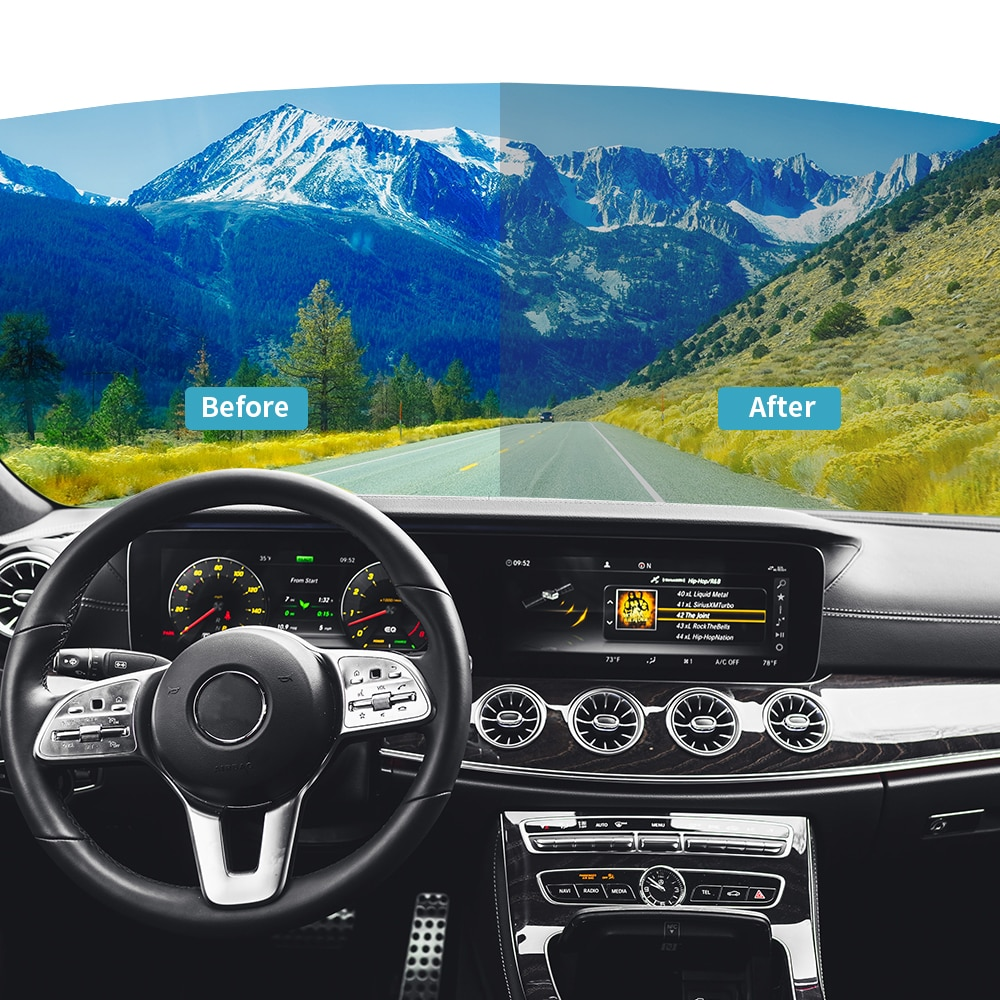 SUNICE 4 Uds tinte de Ventanilla de coche película de tintado rollo de transmisión 70% 35% 50% Nano tinte Anti-Película de vidrio de explosión película Solar automóvil