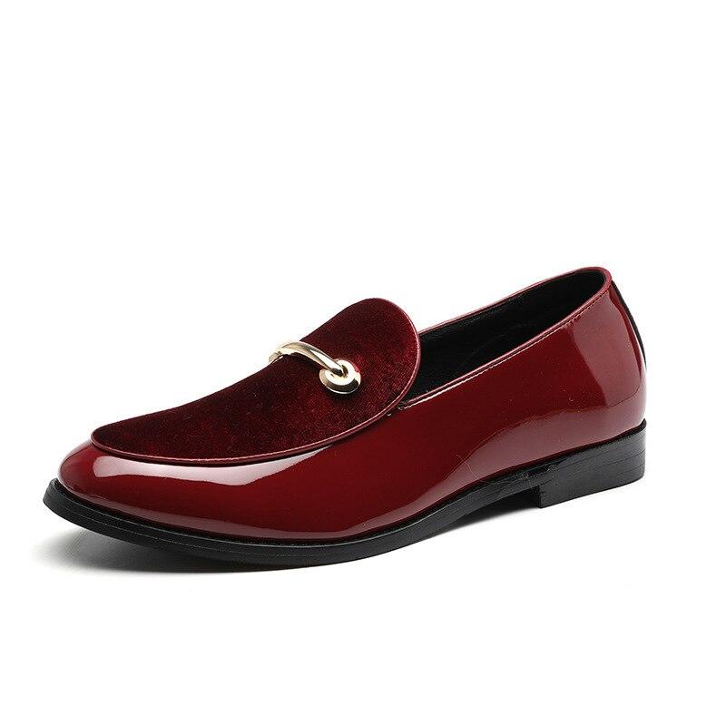 Leather business zapatos de hombre vestir formal dress classic Shoes for men Male One Foot Set Leisure fashion italian brogues