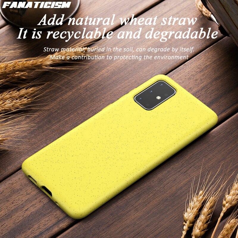 1000 قطعة الحالات الهاتف لسامسونج غالاكسي نوت 20 صديقة للبيئة القمح القش سيليكون كاندي الألوان لسامسونج نوت 20 الترا الغلاف