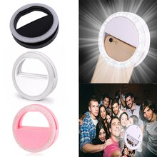 Universal Portable Mobile Phone Selfie Light LED Ring Flash Light Clip Lamp lens lampka do telefonu