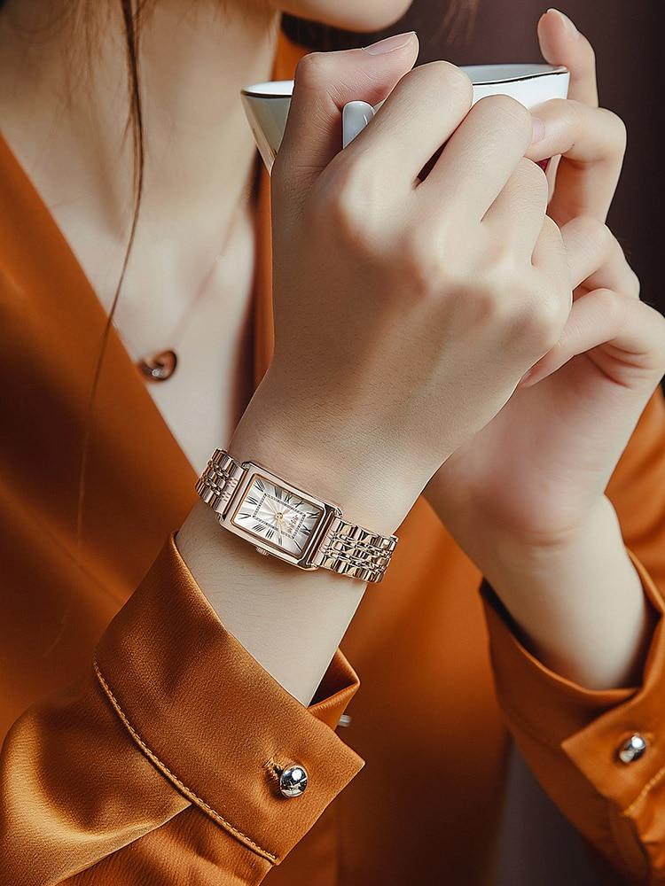 Julius Small Classic Lady Women's Watch Japan Quartz Elegant Fashion Hours Clock Stainless Steel Bracelet Girl Birthday Gift Box