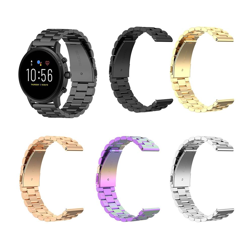 Gran oferta, correa de reloj de acero inoxidable de 22mm para Fossil Gen 5 Carvel, Gen 5 Julianna ,Gen 5 Garrett , Gen 5 Carvel HR