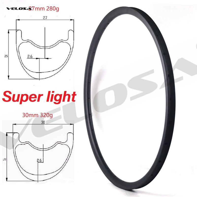 T800 Super light weight 280g,29er MTB XC carbon rim,tubeless ready,29inch mtb mountain bike rim for xc riding,27mm/30mm width