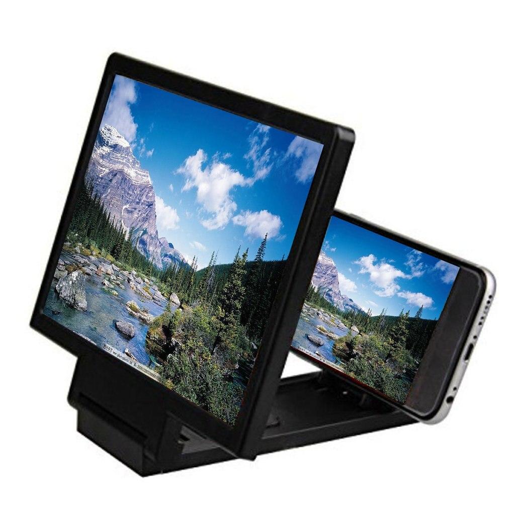 Pantalla de teléfono móvil lupa ojos pantalla de protección 3D amplificador de pantalla de vídeo plegable expandido soporte de soporte