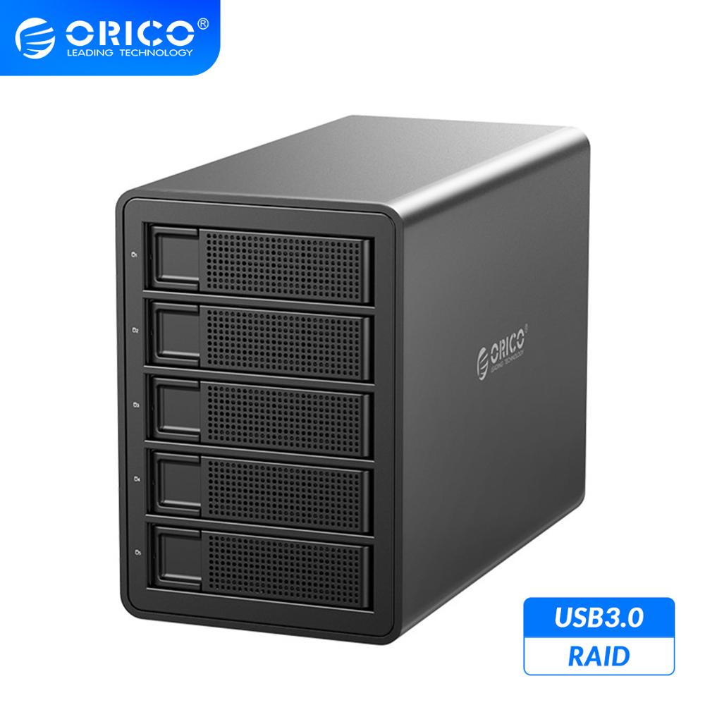 ORICO 35 Series Enterprise 5 bay 3.5'' HDD Docking Station USB3.0 to SATA With RAID HDD Enclosure 150W Internal Power HDD Case