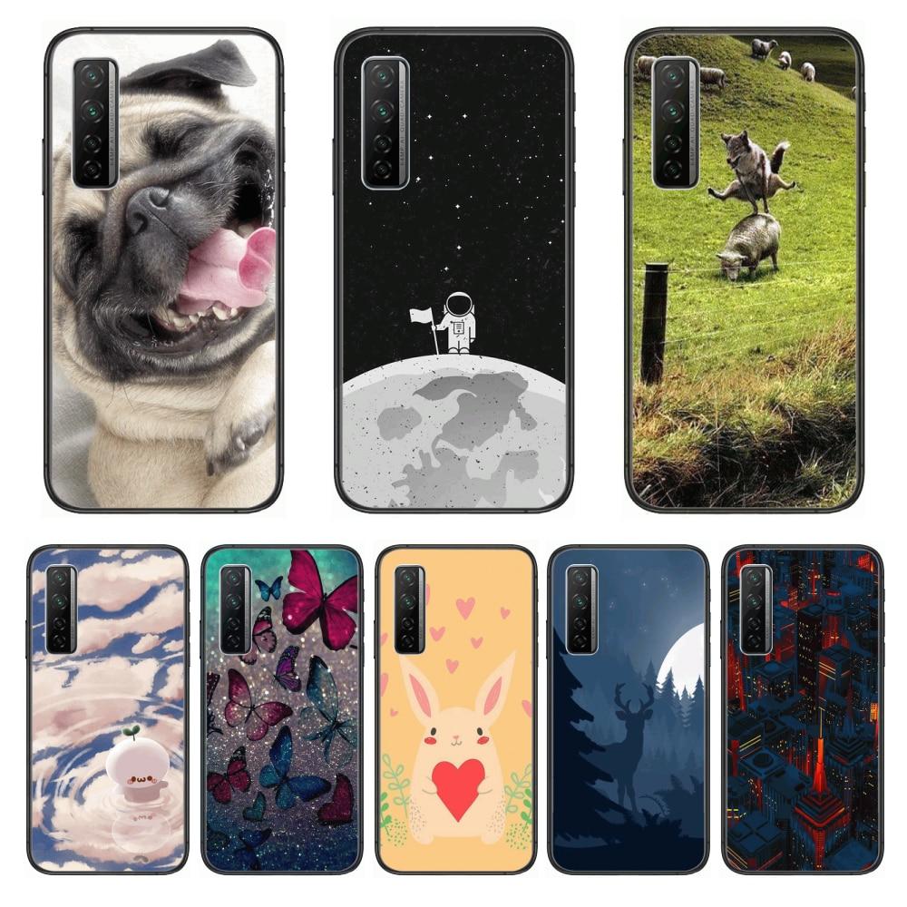Shockproof Fashion  Phone Case For Huawei Nova p10 lite 7 6 5 4 3 Pro i p Smart ZBlack Etui 3D Coque Painting Hoesje