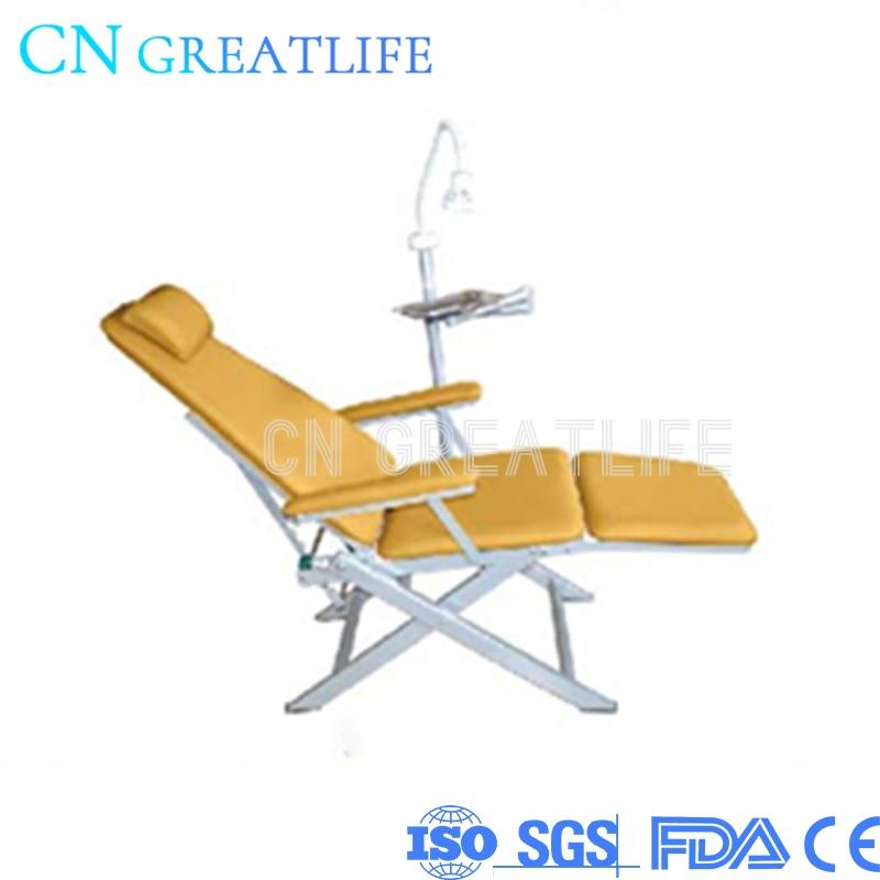 كرسي أسنان محمول قابل للطي, كرسي عيادة الأسنان مع ضوء وصينية