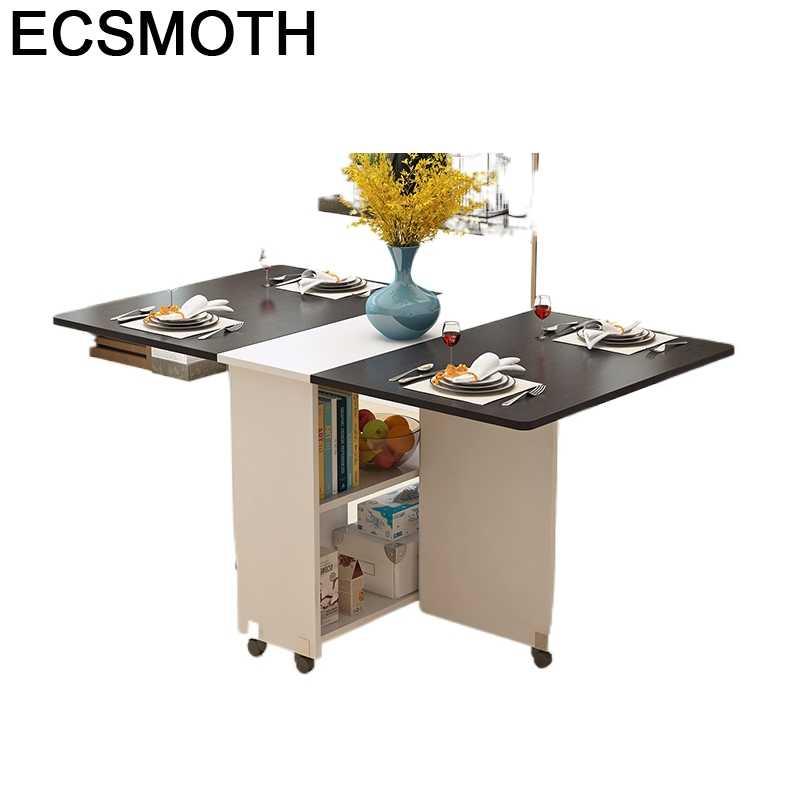 Muebles De cocina plegables para el hogar, Mesa De Comedor Plegable para...