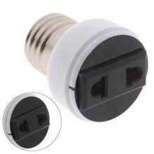 Haute qualité E27 ABS US/ue prise connecteur accessoires porte-ampoule luminaire ampoule Base vis adaptateur blanc douille de lampe