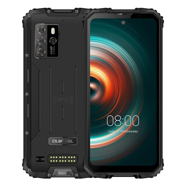 Перейти на Алиэкспресс и купить OUKITEL WP10 IP68 Водонепроницаемый 5G прочный смартфон 8 ГБ + 128 ГБ 8000 мАч 48MP 6,67 ''FHD + безрамочный экран android 10,0 мобильный телефон NFC