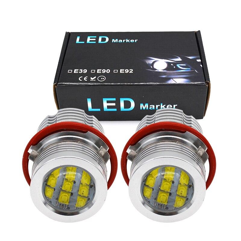 2021 Hidlt E39 120W Led Angel Eyes Canbus Foutloos Halo Ring Kit Wit Geel Voor E39 E60 E63 e53 E65 E83 E87 Led Marker Licht