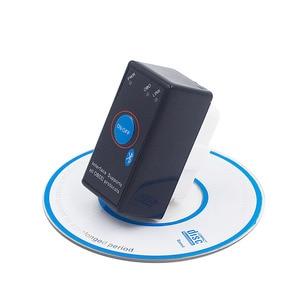 Image 1 - Супер Мини ELM327 Bluetooth ELM 327 выключатель питания V2.1 Кнопка ВКЛ/ВЫКЛ OBD2 автомобильный диагностический инструмент Многоязычный для протоколов OBDII