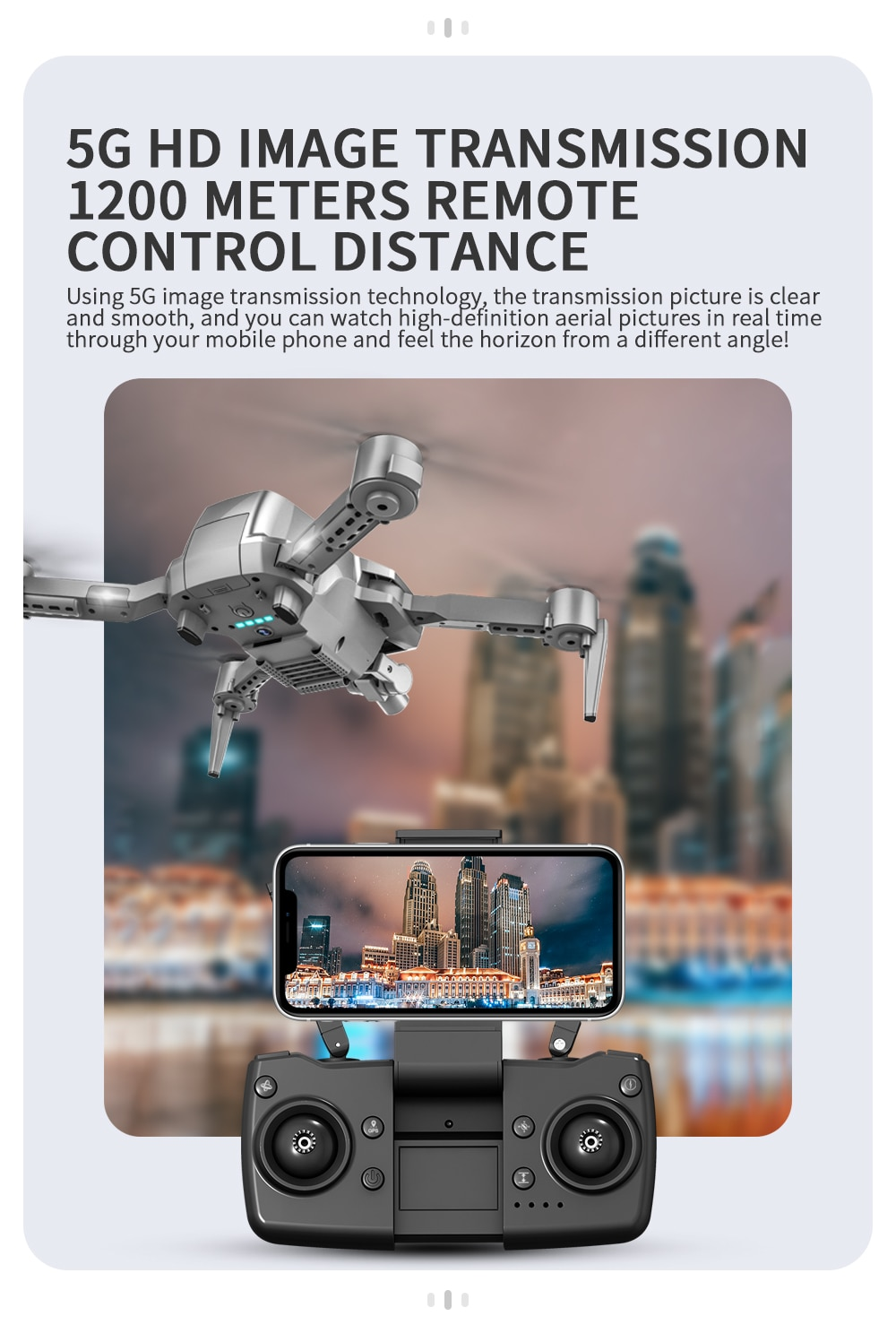 CONUSEA L106 GPS Drone 4K 2-Axis Gimbal Camera 5G WiFi FPV 1200m RC Helicopter Professional Quadcopter Mini Dron For Boy Toys enlarge