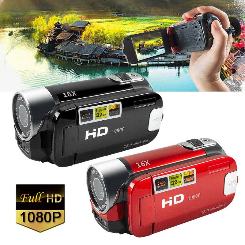 1080p câmera digital filmadora de hd completa tela de rotação de 270 graus 16x noite atirar zoom anti-tremendo filmadoras para vlogging