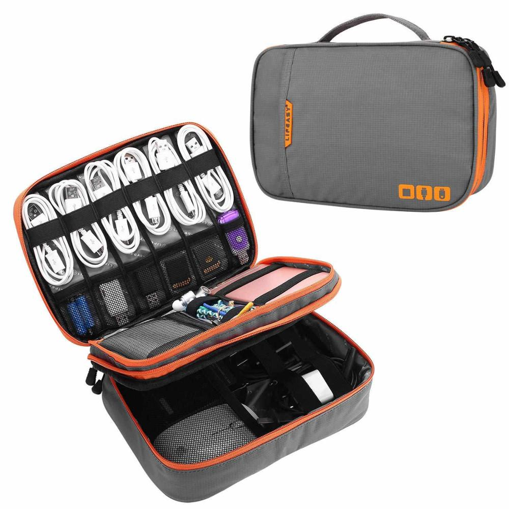 TUUTH Travel Cable Storage Multi-Function Digital Storage Bag Gadget Organizer Digital Pouch Ipad Ea