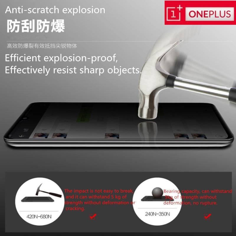 Cristal templado Premium Original OnePlus X6T 5T 5 3T 2 9H protector de pantalla para One Plus 5 6 3 2 1 + 5 5T 2 X, antideslizante