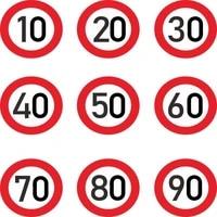 car sticke decalr speed limit 10 20 30 40 50 60 70 80 90 kmh for various car decoration high quality fashion pvc 15cm15cm