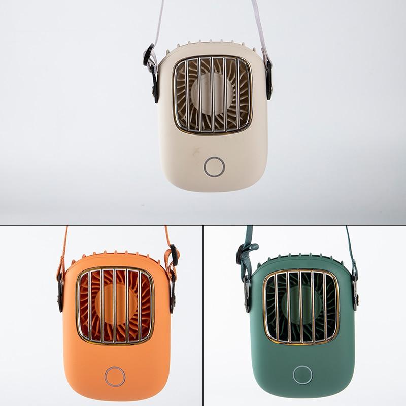 Ventilador de pescoço portátil mini usb ventilador de mão recarregável ventilador ventilador de viagem ao ar livre silencioso pequenos ventiladores de refrigeração display led
