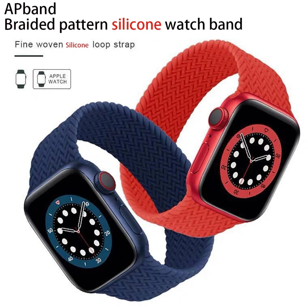 AliExpress - 2 Pack Braided Solo Loop Sport Bands Compatible for Apple Watch Band 38mm 40mm 42mm 44mm soft Stretchy wristband Women Men Elast