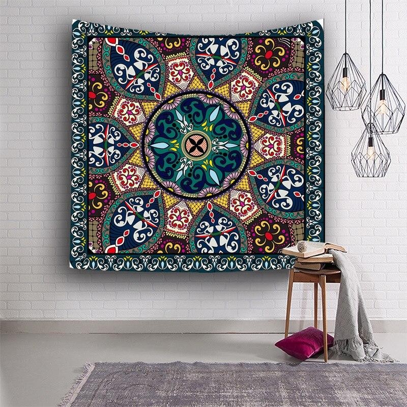 Zeegle tapiz colgante de pared Floral para la pared casera tela de tapiz decorativo artesanías al aire libre esteras Pinic Toalla de playa almohadilla yoga