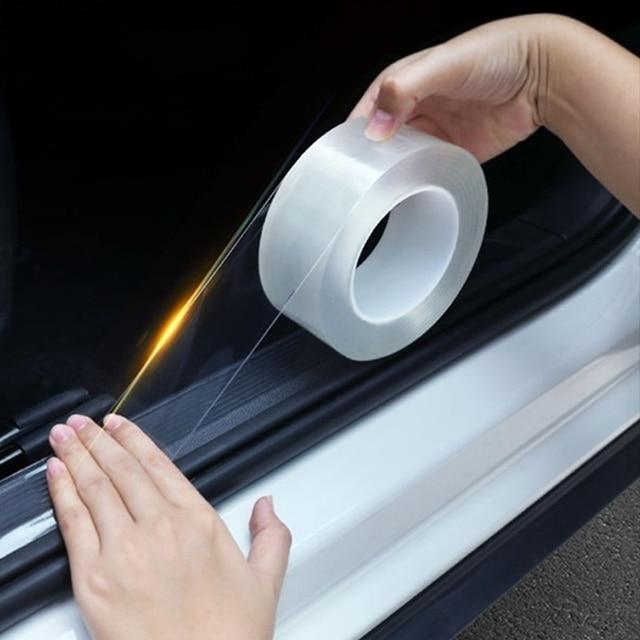 1/3/5m Car Stickers Auto Interior Protector Film Door Edge Protective Glue Automobile Trunk Door Sill Car Body Vinyl Accessories