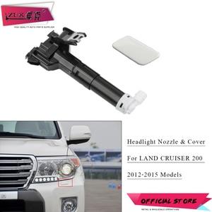 ZUK Front Headlight Washer Nozzle & Cover For LAND CRUISER URJ200 2012-2015 Head Light Lamp Headlamp Water Spray Jet & Cap Set