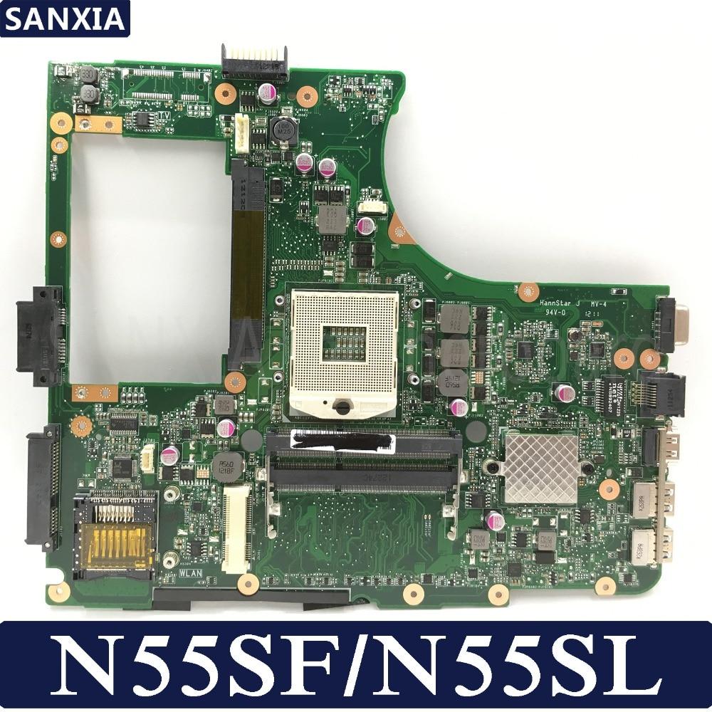 KEFU N55SF اللوحة الأم لأجهزة الكمبيوتر المحمول ASUS N55SF N55SL N55S اللوحة الرئيسية الأصلية HM65 DDR3