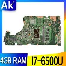 AKEMY X555UA original mainboard for ASUS X555UJ X555UF X555UQ X555UB X555U F555U A555U K555U 4GB RAM i7-6500U Laptop motherboard