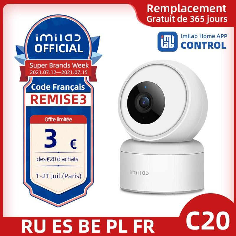 IMILAB-كاميرا IP ذكية C20 ، 1080 بكسل ، تعمل مع مساعد Google Alexa ، H.265 ، 360 درجة ، PTZ ، AI ، مراقبة WIFI Cloud S