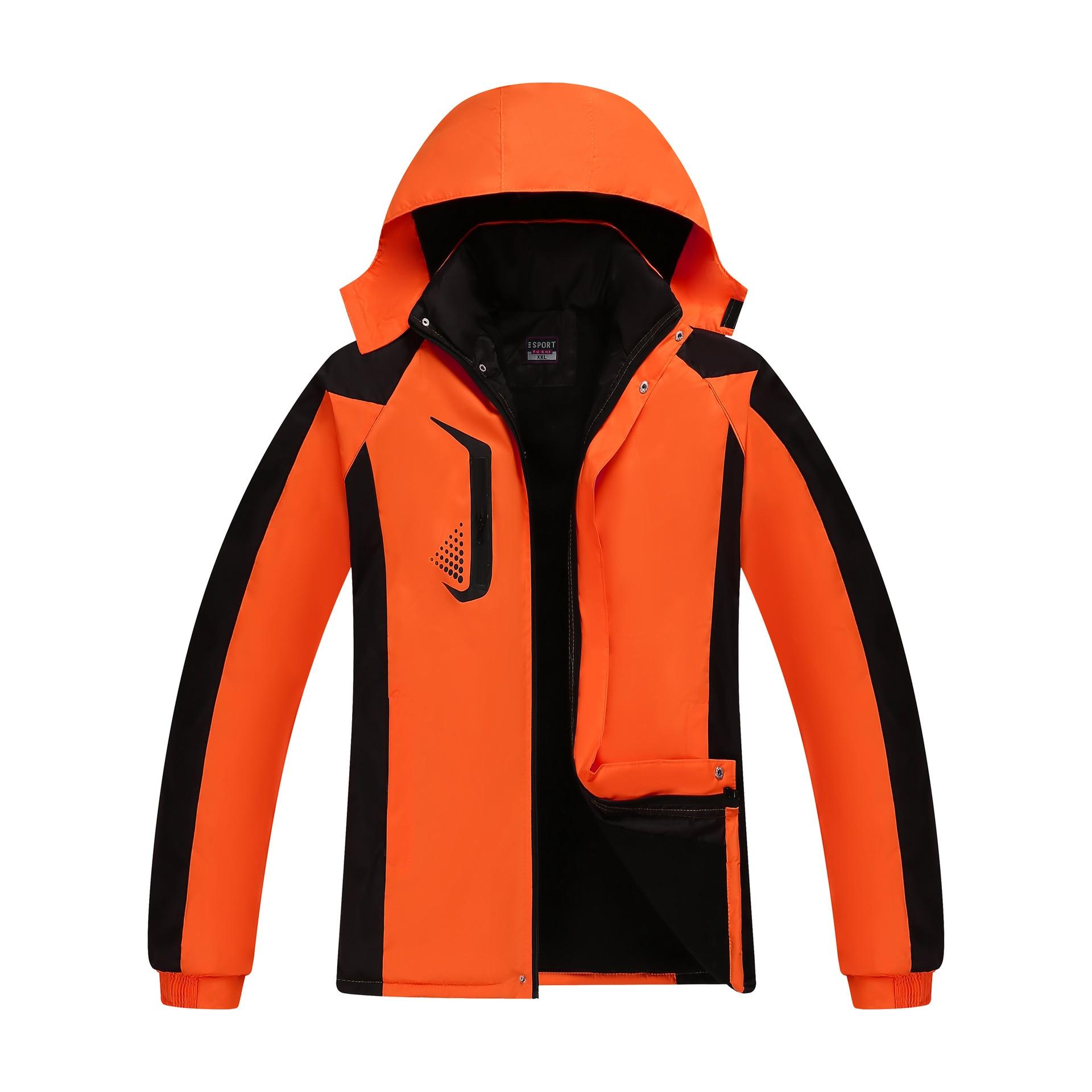 معطف واق من المطر ، سترة رياضية خارجية ، قميص إعلاني ، مخمل سميك ، ملابس مبطنة بالقطن كبيرة الحجم ، الخريف والشتاء