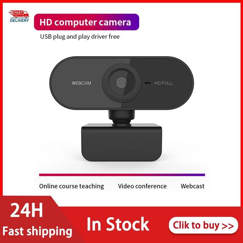 [해외] 1080P 자동 초점 웹캠, 마이크 미니 풀 HD 하이 엔드 화상 통화 카메라 컴퓨터 주변 기기 웹 카메라 PC 노트북 액세서리