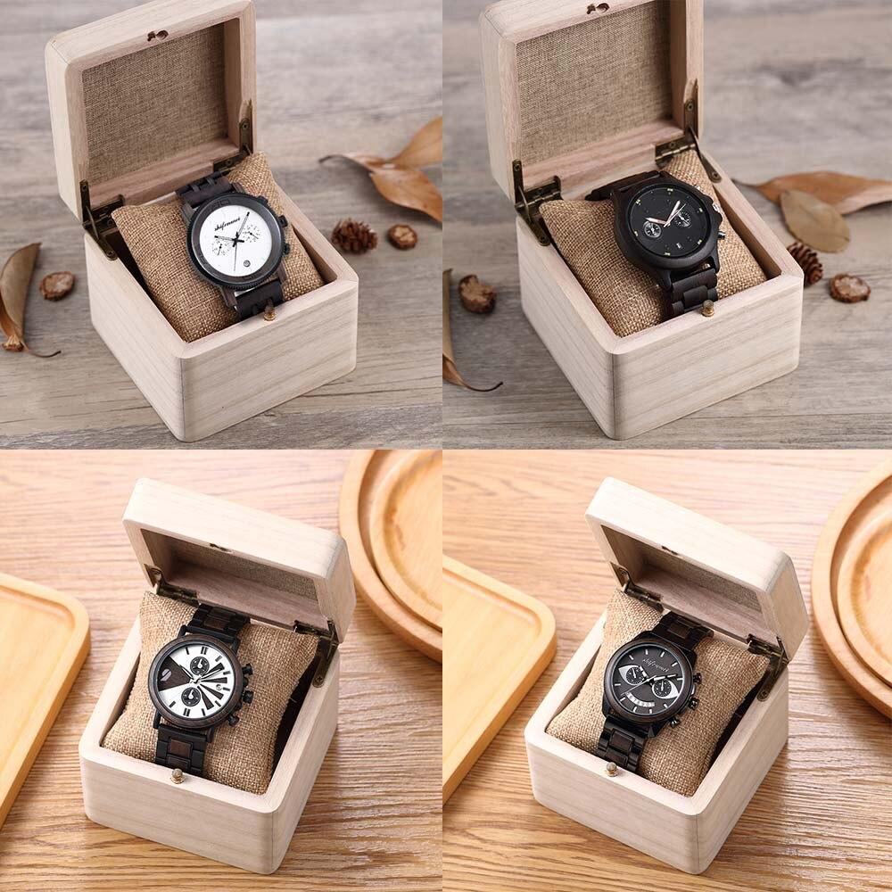 Shifenmei personalizable reloj de madera caja de alta calidad caja de madera con la marca de moda Gif LOGO de caja