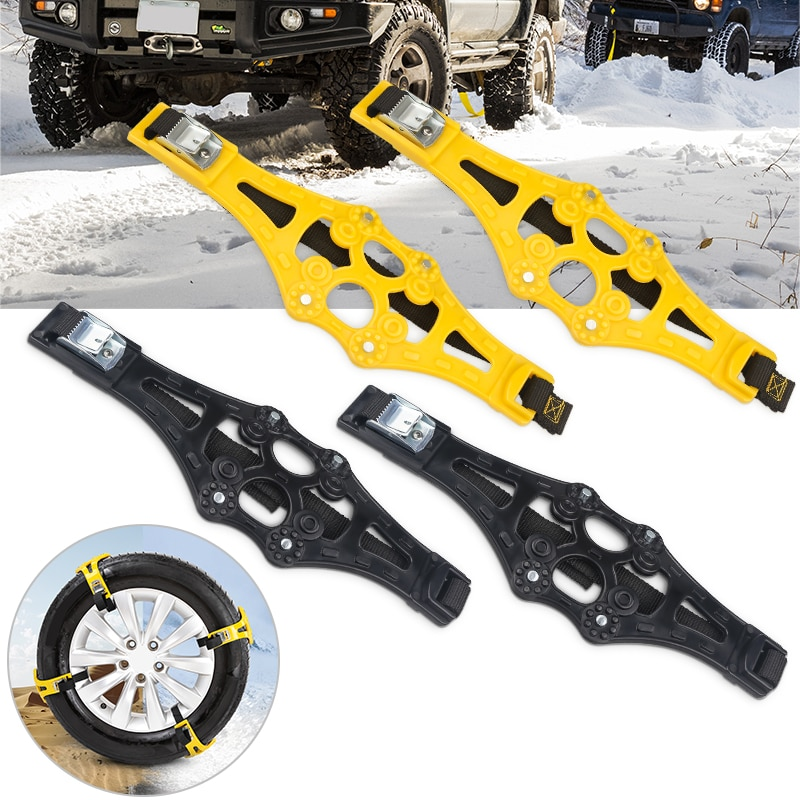 4PCS/Set Universal Anti-Skip Car Wheels Tyre Tire Snow Ice Sand Muddy Car Tyre Winter Roadway Safety Anti-Slip Chains Auto