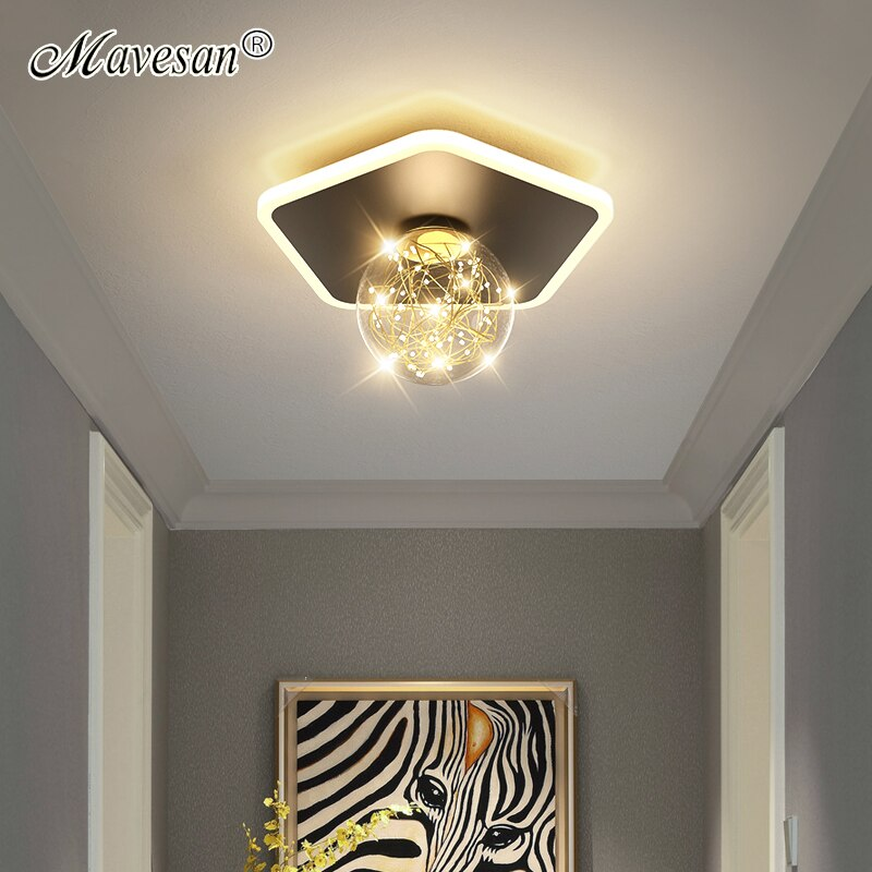LED ثريا أكريليك للممرات الممر غرفة نوم المطبخ الممر غرفة الطعام غرفة المعيشة معرض بهو قاعة أضواء المنزل داخلي