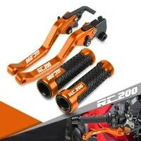 motorcycle accessories adjustable brake clutch levers handlebar grip handle bar motorbike hand for rc200 rc 200 2014 2017 2016