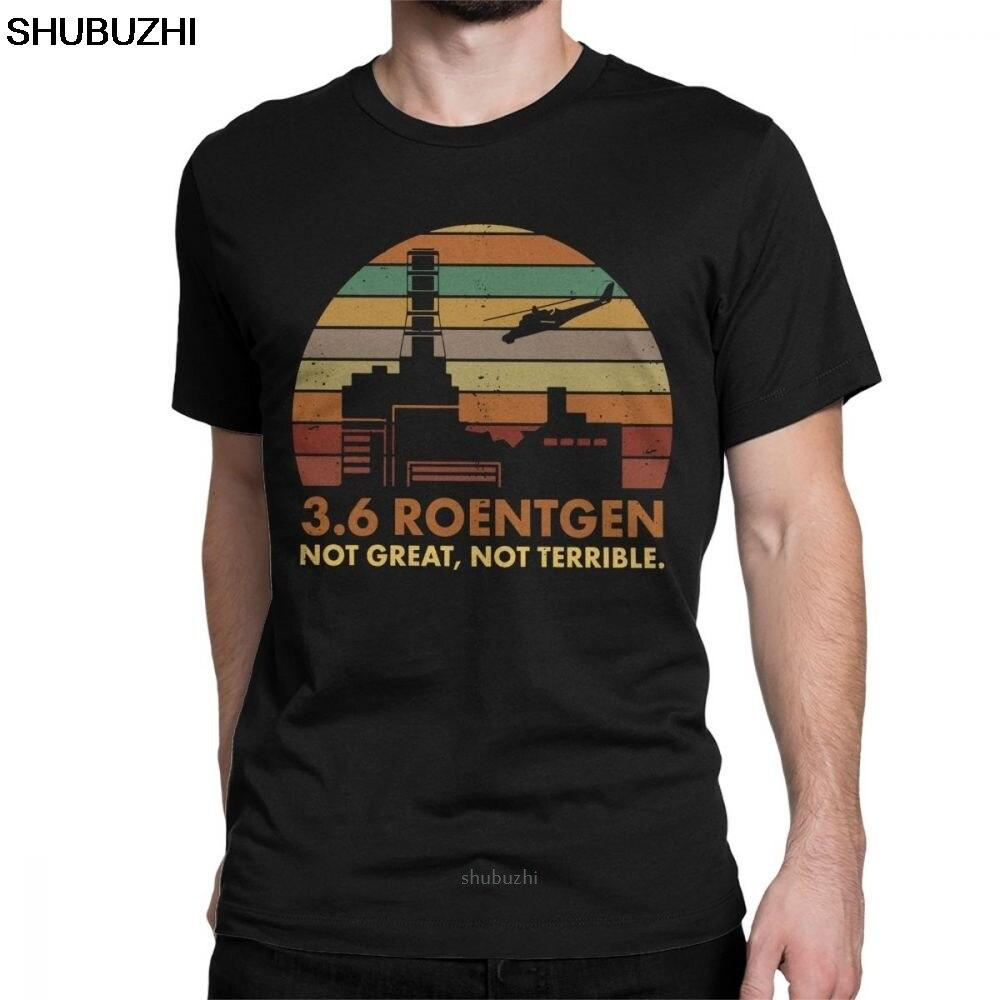 3,6 Мужская футболка с надписью «Roentgen Not Great Not horrible», топы для ТВ-шоу, футболка с ядерным излучением, футболка для отдыха, sbz8123