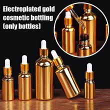 1 ud. Botella de perfume al vacío botella de cristal perfume líquido maquillaje oro esencial de botellas de aceite rellenable Paquete de plata contenedores I6V3