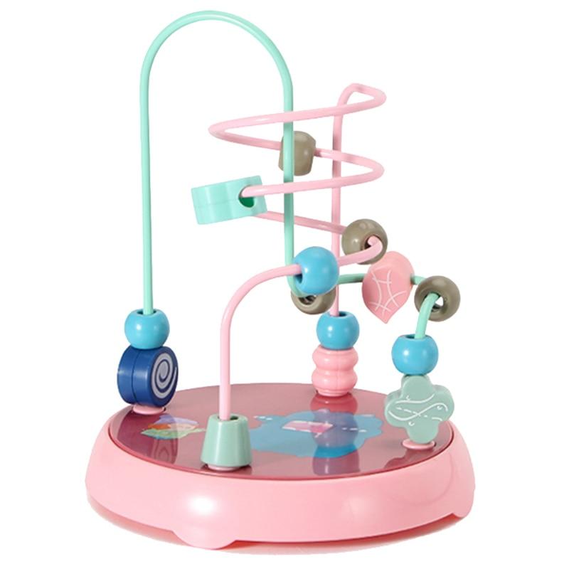 Головоломка-лабиринт с бусинами для детей, 3D орбитальная образовательная игра для обучения детей от 1 до 3, детское творчество, Монтессори дл...