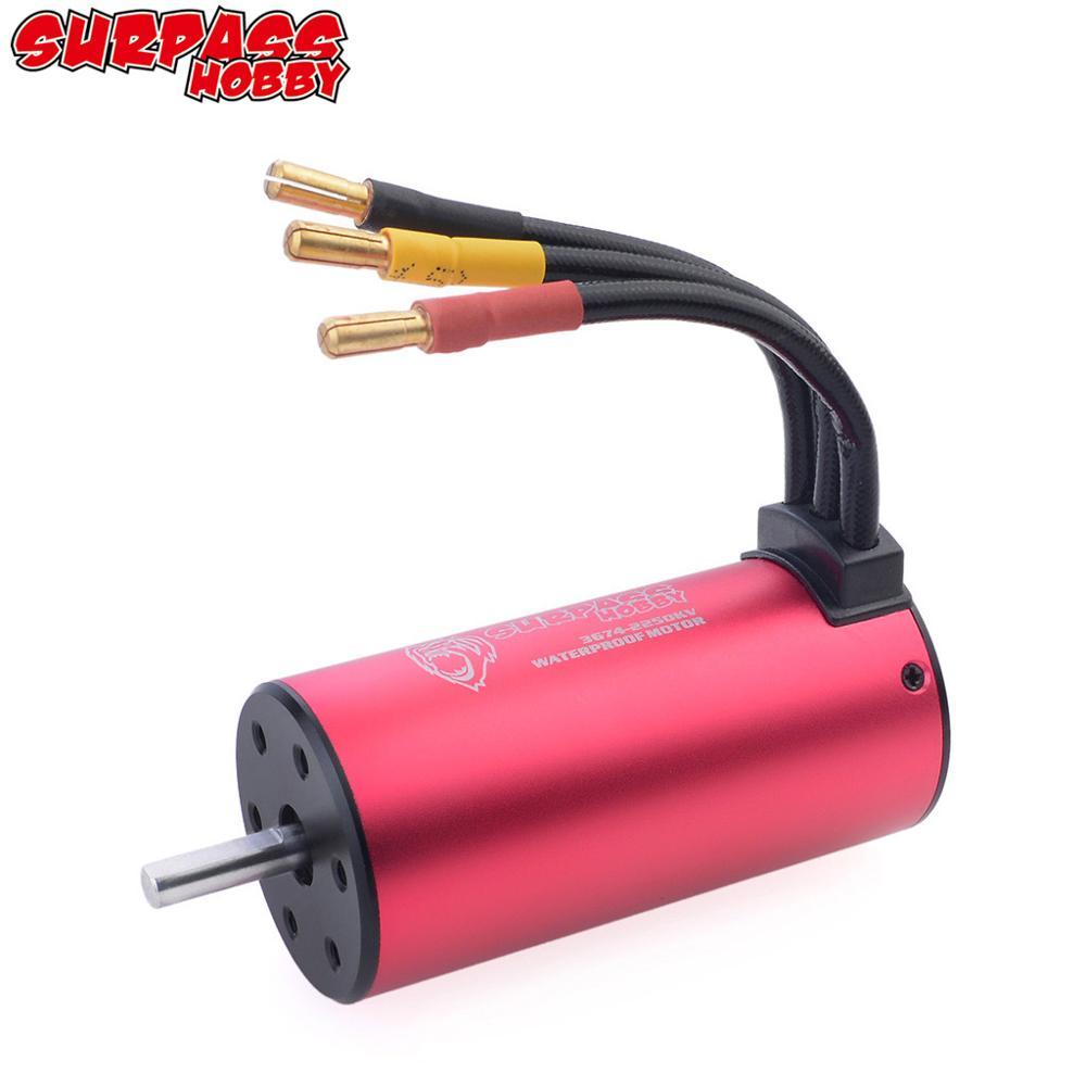 Surpass Hobby KK 3650 3660 3665 3670 3674 Waterproof Brushless Motor for 1/8 1/10 2S 3S RC Car Drift