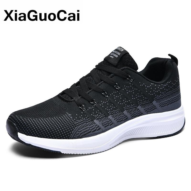 2020 Men Casual Shoes Spring Autumn Man Sneaker Breathable Knit Low Top Korean Style Soft Sole Walking Shoes For Man New Arrival 2018 new arrival puma men s tsugi jun cubism sneaker badminton shoes size36 44