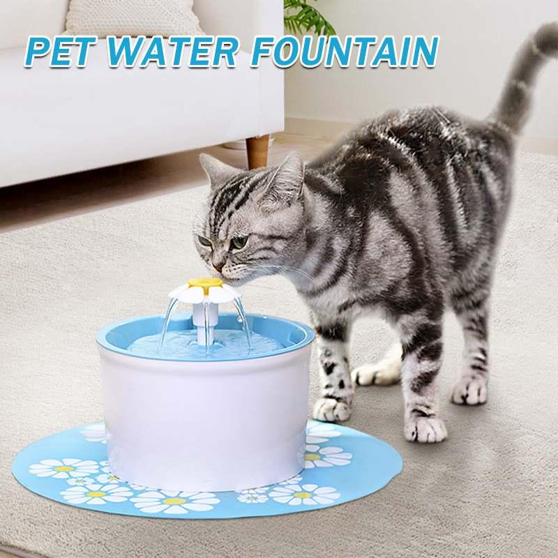 Fonte de água automática do gato do animal de estimação alimentador automático filtro de bebida alimentador elétrico alimentador usb cão bebedor dispensador tigela potável